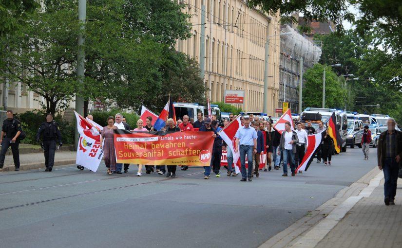17. Juni: Naziaufmarsch fast ohne Resonanz