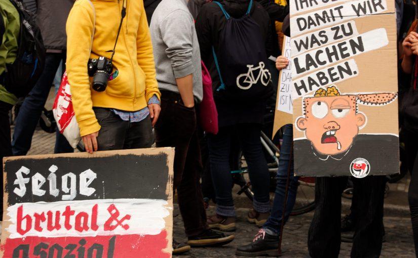 Hilfe, ich habe meine Partei geschrumpft. Die NPD am 1. Mai in Dresden