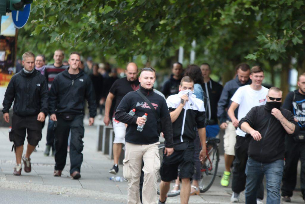 """Erik Hartmann, """"Neubi"""" und Marvin Claus in Chemnitz am 01.09.18"""