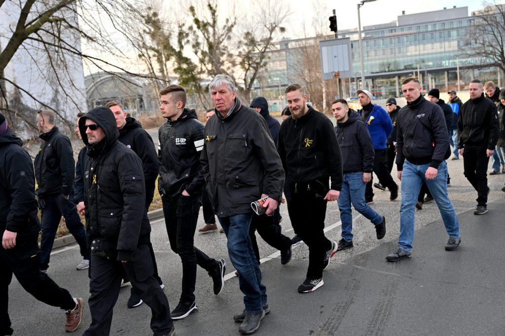 Tobias Lichy beim Naziaufmarsch am 15.02.20 in Dresden